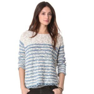 Free People French Creek Pullover in Blue Combo M